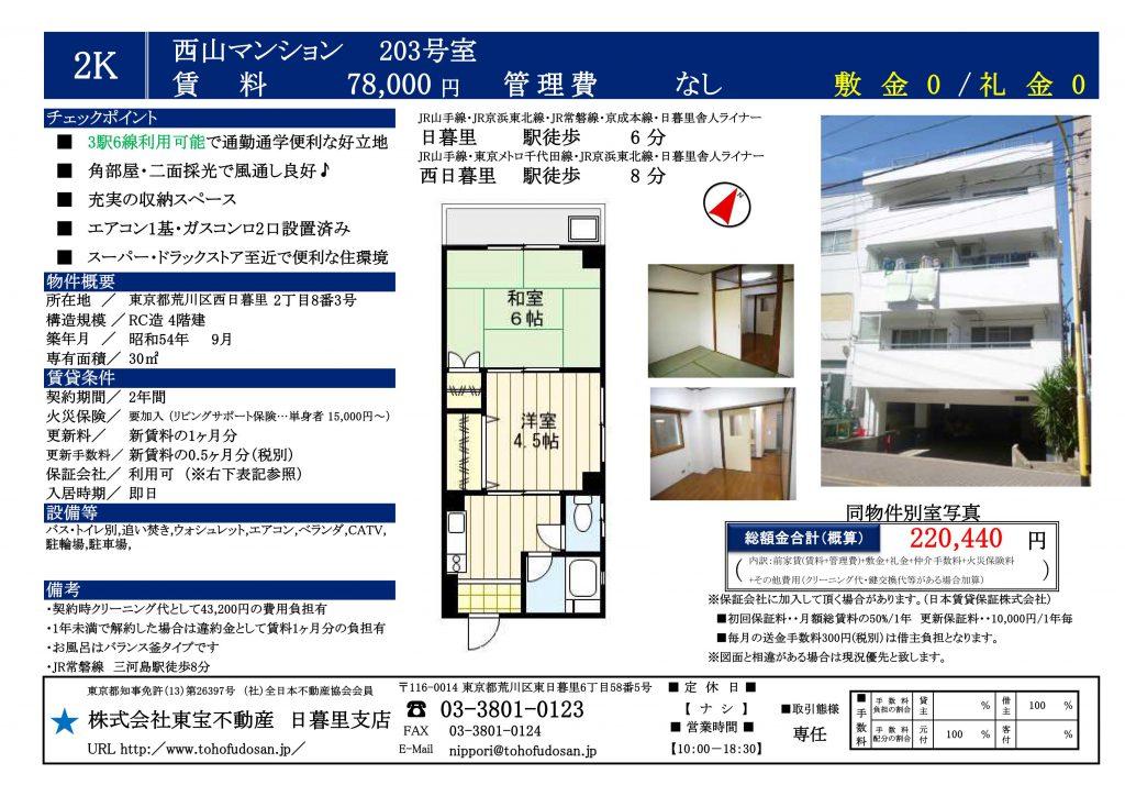 西山マンション203号室_01